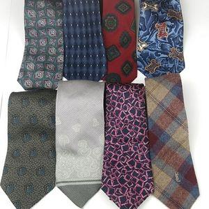 Luxury Men's Neck Tie Bundle 8 Dior Armani YSL